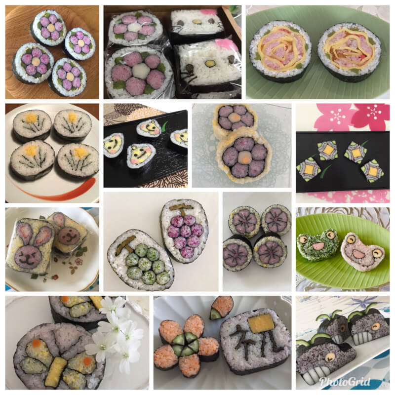 Decorative sushi making class with tea ceremony