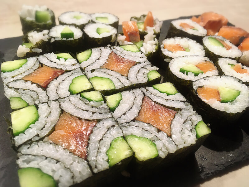 Let's make casual Sushi Roll and Art Sushi Roll in Akaigawa (near Niseko)