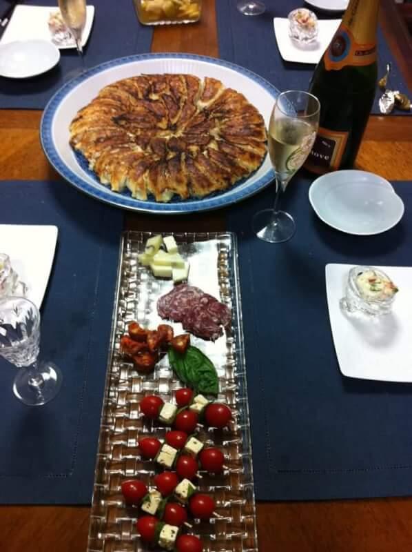 Home made delicious Gyoza and Salads