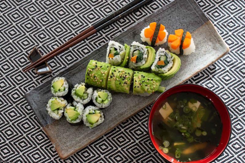 Hands-on Healthy VEGAN SUSHI & miso soup