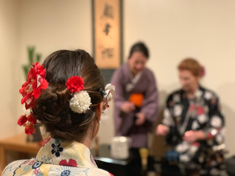Authentic Tea Ceremony in Kimono with qualified teacher in the center of Kyoto