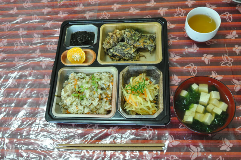 Okinawan homemade foods in Yagaji, Okinawa
