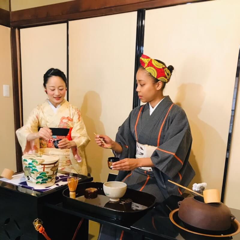 Tea ceremony&Kimono experience with the beautiful Japanese garden by qualified tea master