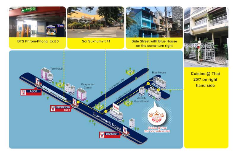 Map Location of Cuisine@Thai