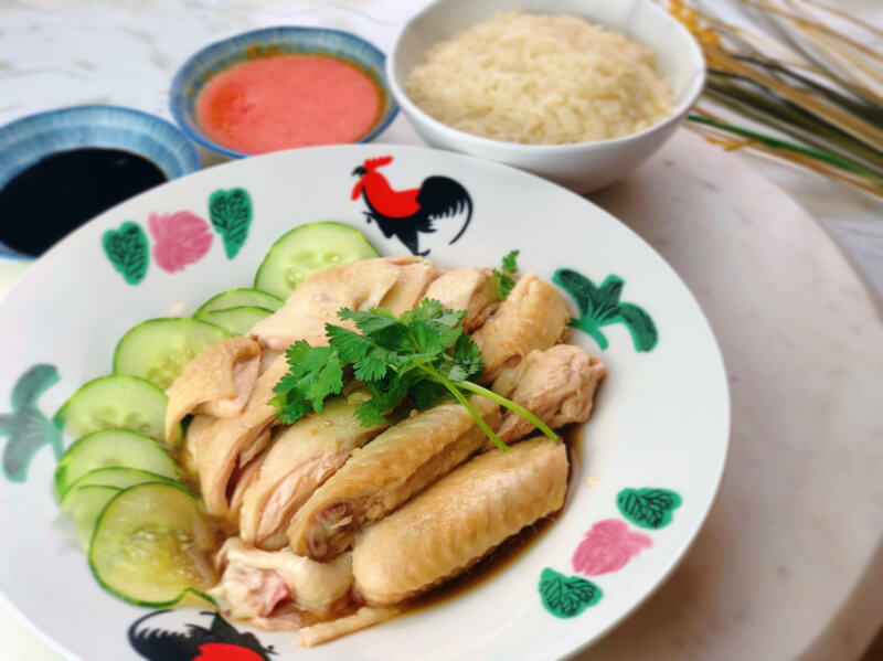 Learn to cook authentic Singapore chicken rice!