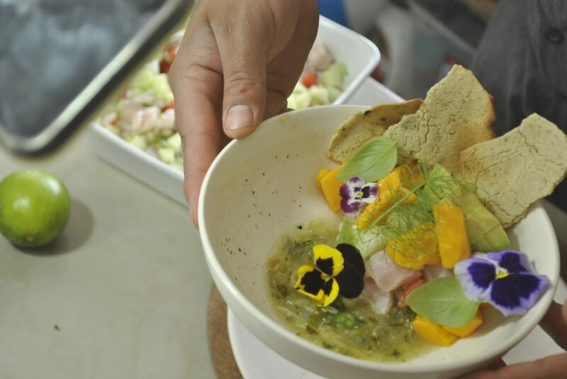 Mexican Ceviche Online Cooking Class with a professionally trained chef in Mexico City