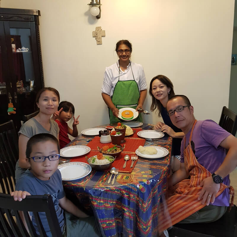 Cooking Class with A Family