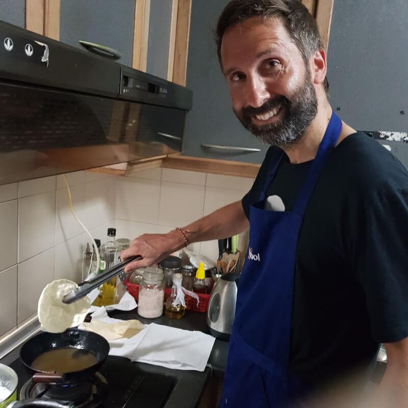 Frying Pappadams