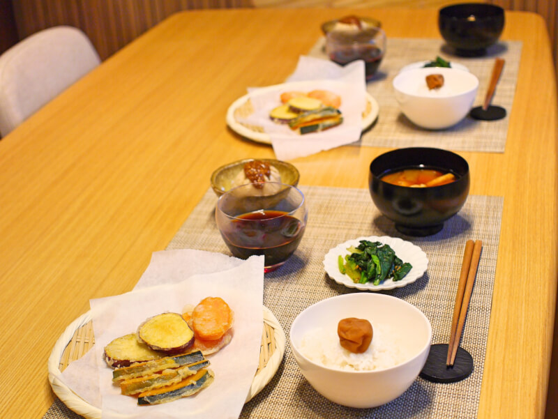 //Online cooking class//Shojin ryori for vegans and vegetarians with Tempura