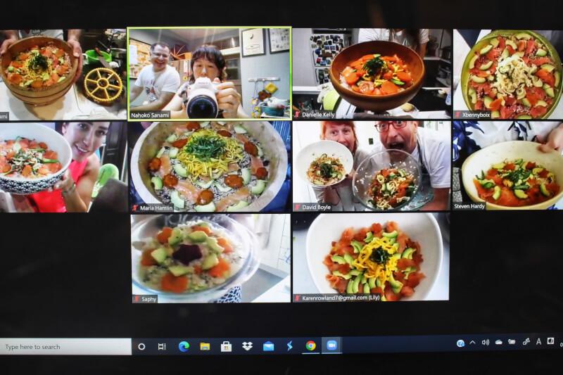 Ended★6 September 08:00/18:00(Japan time) Chirashi Sushi Online Session Nahoko&Mac