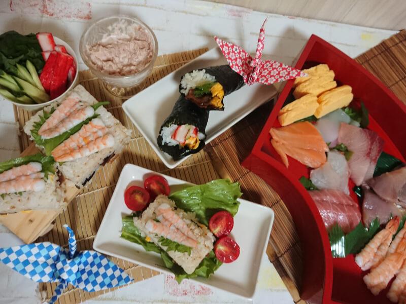 Gorgeous hospitality Oshizushi Hand ー rolled