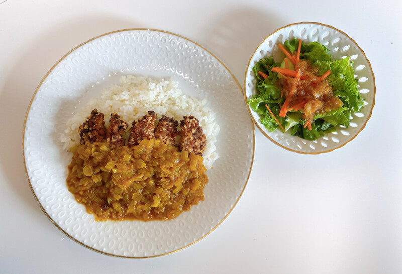 〈online class〉 Vegan cutlet curry with savory onion dressing