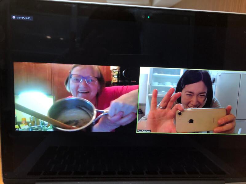 Enjoy cooking together online!