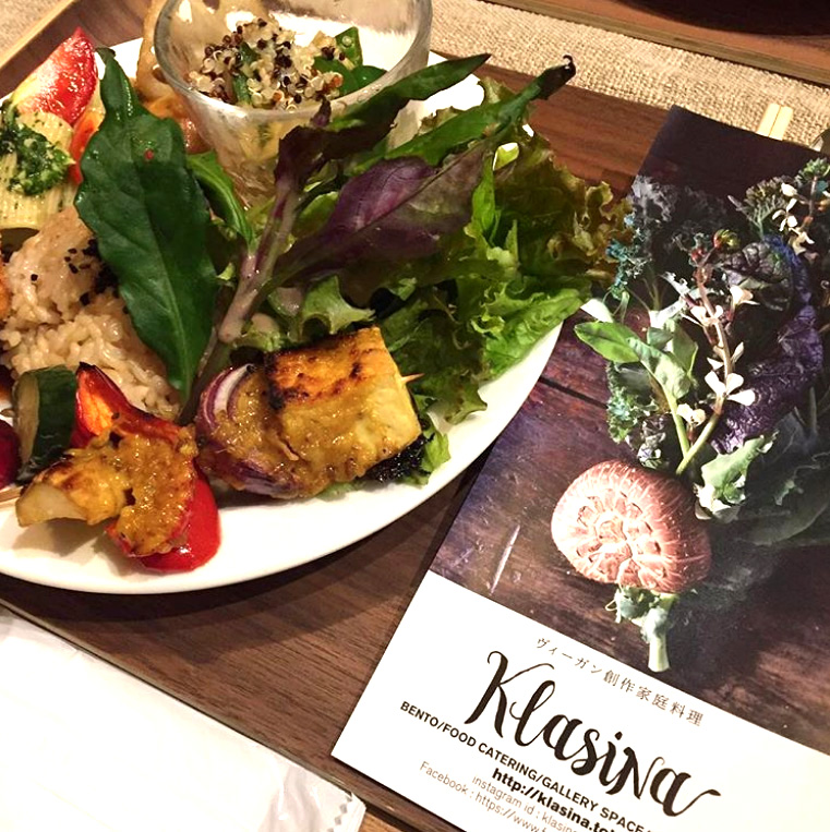 Japanese home cooking made from organic vegetables and Japanese traditional ingredients