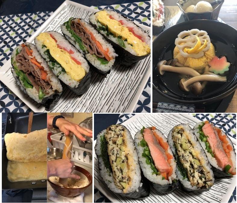 Enjoy together, vegan, vegetarian, non-vege.P ! Making ONIGIRAZU.