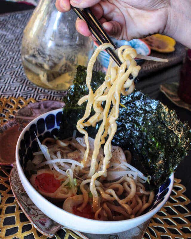 Veggie Ramen noodle from scratch &Veggie Gyoza