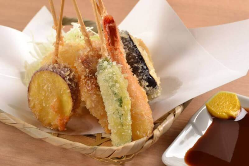 Kushiage(Japanese deep fried skewered meat and vegetables)